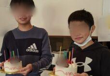 笹塚校の様子「誕生日お祝い」