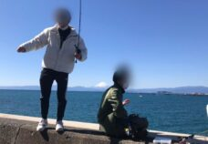 横浜校の様子「海釣り&サッカー」